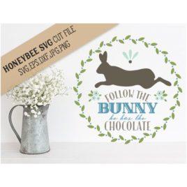 Follow the Bunny SVG Cut File