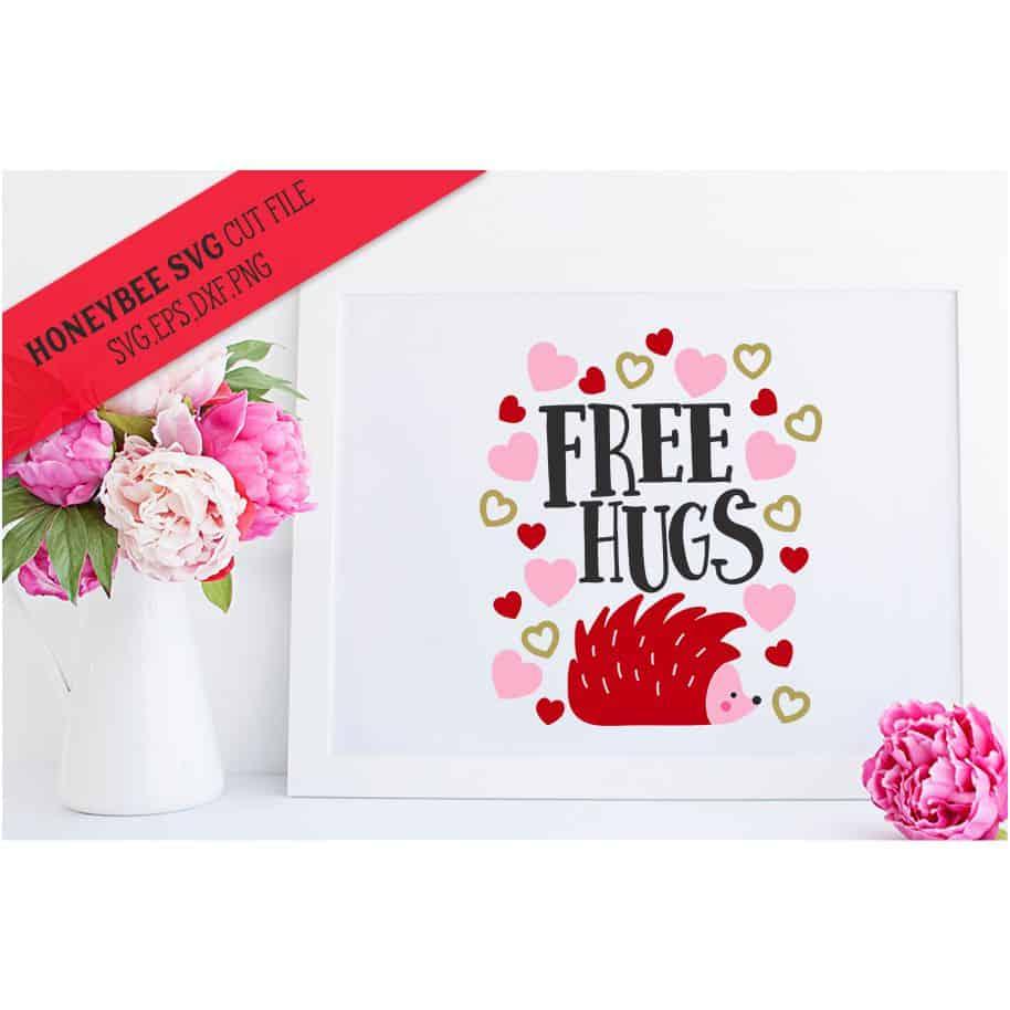Free Hugs Hedgehog Svg Cut File Stitchtopia