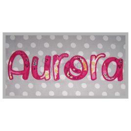 Aurora Applique Font – 2″ 2.5″ 3″ 4″