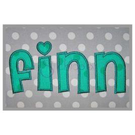 Finn Applique Font – 2″ 3″ 4″