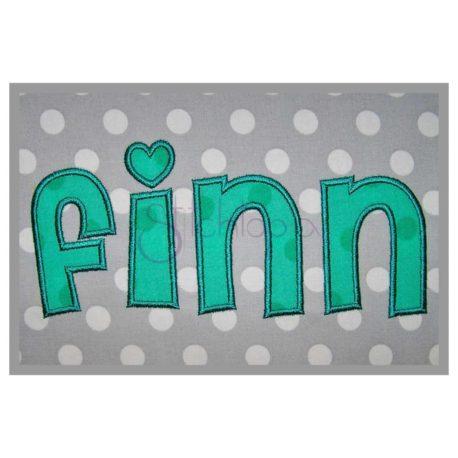 Stitchtopia Finn Applique Font