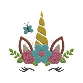 Spring Unicorn Embroidery Design