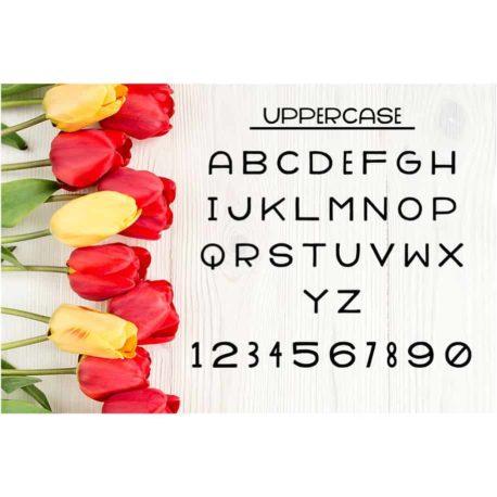 Honeybee SVG Breezy Picnic Alphabet SVG Cut Files - Uppercase