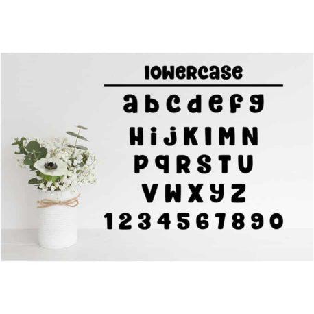 Honeybee SVG Chirp Alphabet SVG Cut Files - Lowercase