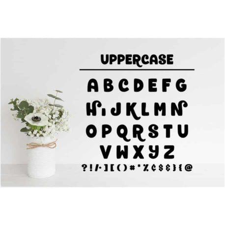 Honeybee SVG Chirp Alphabet SVG Cut Files - Uppercase