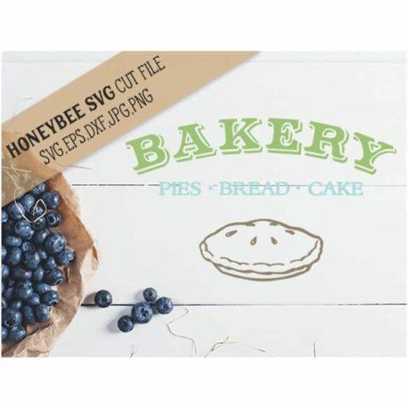 HoneybeeSVG Bakery SVG Cut File