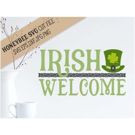 HoneybeeSVG Irish Welcome SVG Cut File
