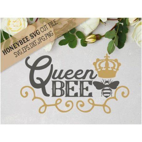 HoneybeeSVG Queen Bee SVG Cut File