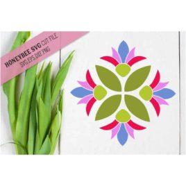 Spring Bloom Barn Quilt SVG Cut File