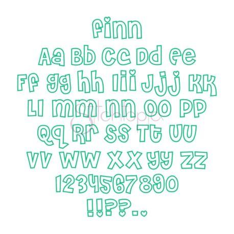 Stitchtopia Applique Font Bundle - Finn Applique Font