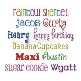 Kid Embroidery Font Bundle – 10 Fonts
