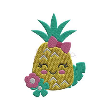 Stitchtopia Happy Pineapple Embroidery Design