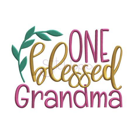 Stitchtopia One Blessed Grandma Embroidery Design