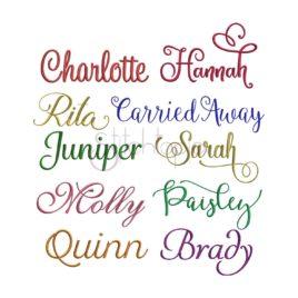 Script Embroidery Font Bundle – 10 Fonts
