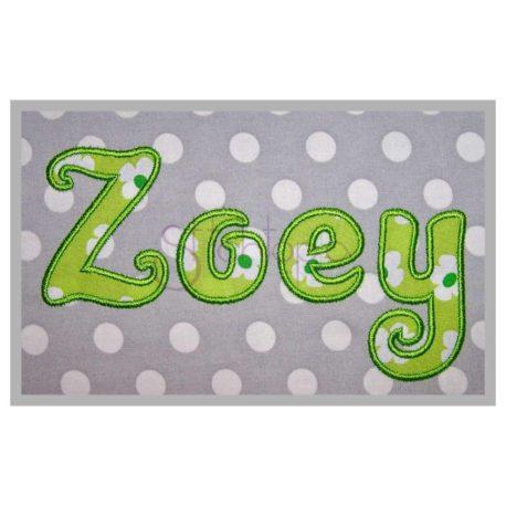 Stitchtopia Zoey Applique Font