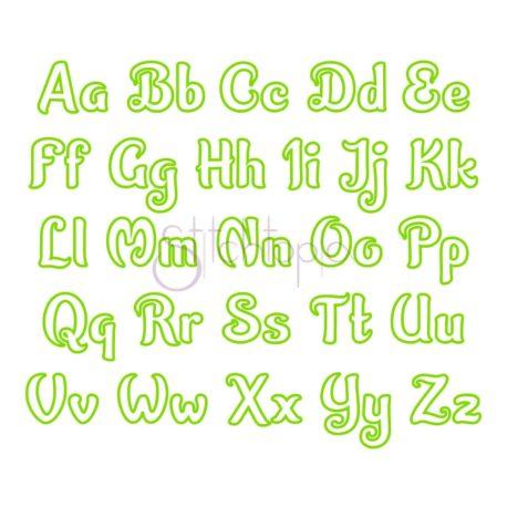 Stitchtopia Zoey Applique Font - All Letters