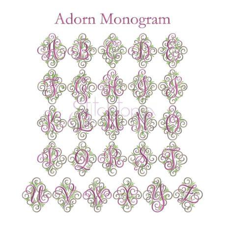 Stitchtopia Adorn Monogram - All Letters