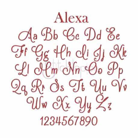 Stitchtopia Alexa Embroidery Font