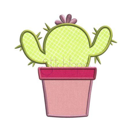 Stitchtopia Cactus Applique Design with Fabric