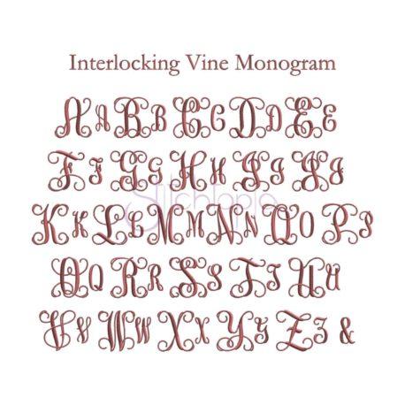 Stitchtopia Interlocking Vine Monogram - All Letters