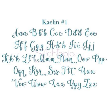 Stitchtopia Kaelin #1 Embroidery Font