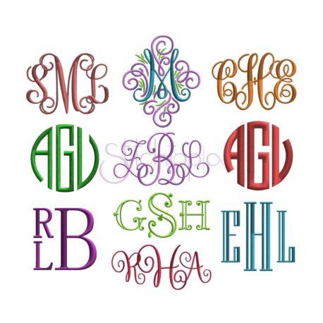 Stitchtopia Monogram Font Bundle - 10 Fonts