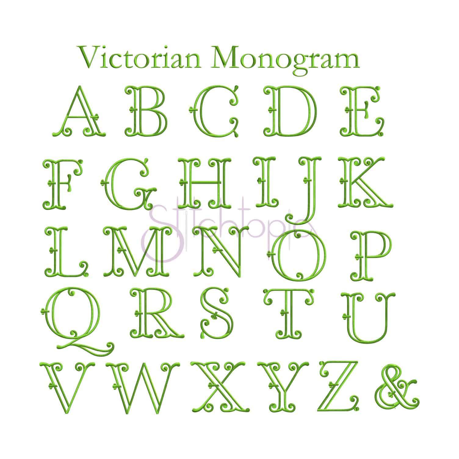 Monogram Embroidery Font Bundle - 10 Fonts
