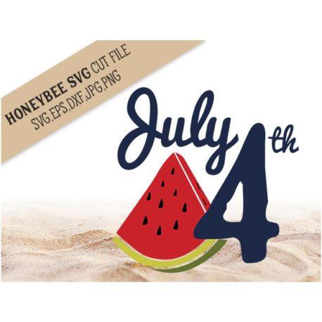 HoneybeeSVG July 4ht Watermelon SVG Cut File