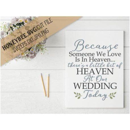 HoneybeeSVG A Little Bit of Heaven SVG Cut File