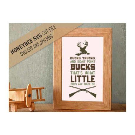 HoneybeeSVG Ducks Trucks Eight Point Bucks SVG Cut File