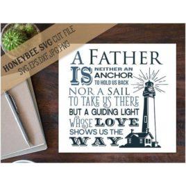 Father A Guiding Light SVG Cut File