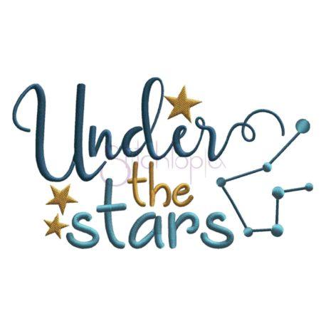 Stitchtopia Under the Stars Embroidery Design