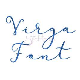 Virga Embroidery Font #1 – 1″ 1.5″ 2″ 2.5″, 3″