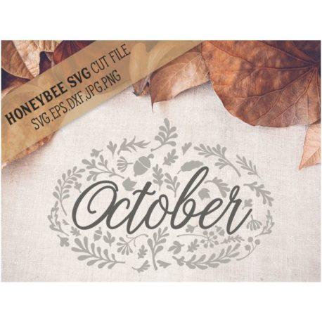 HoneybeeSVG October Pumpkin SVG Cut File
