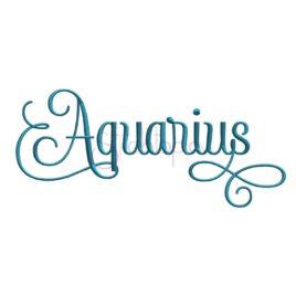 Zodiac Embroidery Design – Aquarius