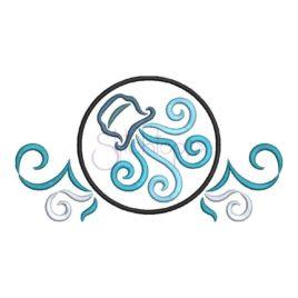 Zodiac Symbol Embroidery Design – Aquarius