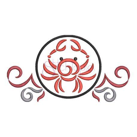 Stitchtopia Zodiac Cancer Embroidery Design
