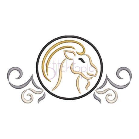 Stitchtopia Zodiac Capricorn Embroidery Design