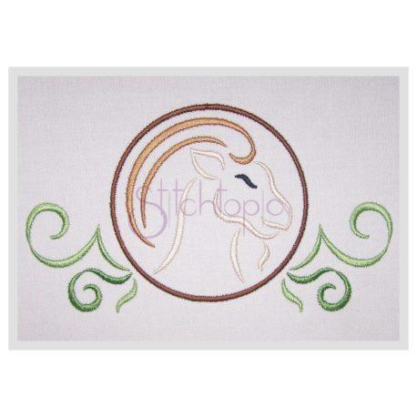 Stitchtopia Zodiac Capricorn Embroidery Design - Horoscope