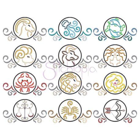 Stitchtopia Zodiac Complete Embroidery Set