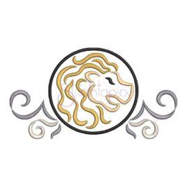Zodiac Symbol Embroidery Design – Leo
