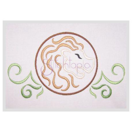 Stitchtopia Zodiac Leo Embroidery Design - Horoscope