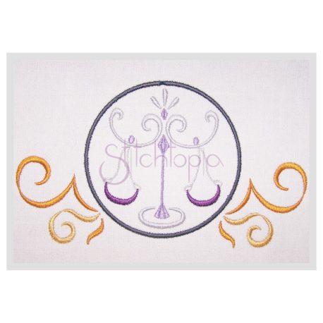 Stitchtopia Zodiac Libra Embroidery Design - Horoscope