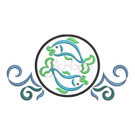Stitchtopia Zodiac Virgo Embroidery Design