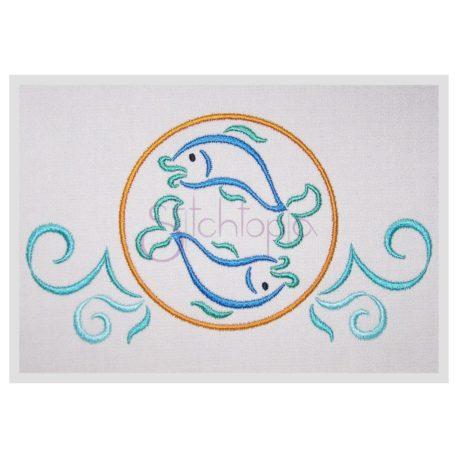 Stitchtopia Zodiac Pisces Embroidery Design – Horoscope