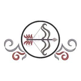 Zodiac Symbol Embroidery Design – Sagittarius
