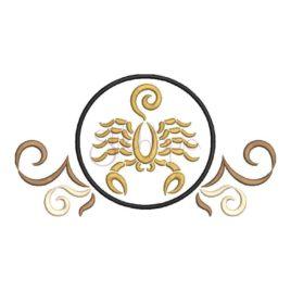 Zodiac Symbol Embroidery Design – Scorpio