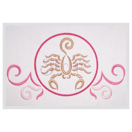 Stitchtopia Zodiac Scorpio Embroidery Design - Horoscope