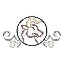 Zodiac Symbol Embroidery Design – Taurus
