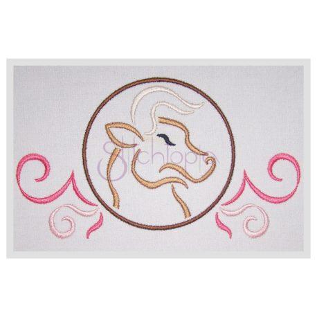 Stitchtopia Zodiac Taurus Embroidery Design - Horoscope